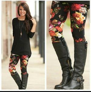 Boutique Floral Print Leggings